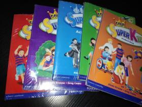 原装正版朗文套装-Super Kids、Student BooK 1.2.4.5.6(全新塑封)学生书+练习册、附光盘
