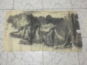 荆州已故老画家张金锦(中南艺专毕业)国画精品 清江河边