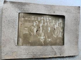 1935年博站交接铁路,日华俄职员共同纪念照片。12/8.5