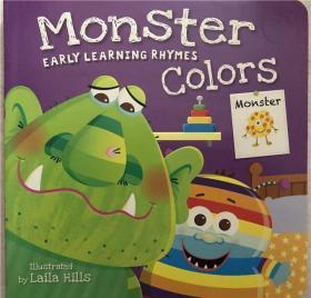 纸板书Early Learning Rhymes Monster Colors 早期学习押韵怪兽色彩
