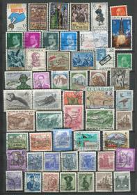 奥地利 西班牙 意大利 邮票 信销 53枚