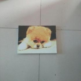 精美的油画憨态小狗