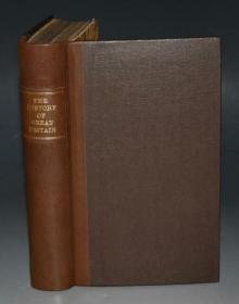 1808年John Adams - A New History of Great Britain 约翰·亚当斯《新编英国简史》羊皮书脊烫金精装  原品木刻插图 增补插图