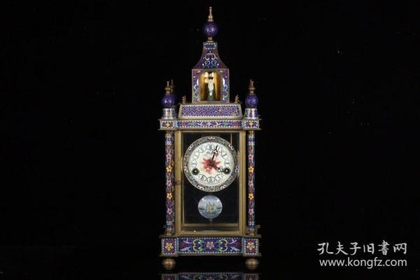 欧洲回流、老景泰蓝机械座钟