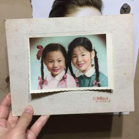 带粘板的手工上色老照片 尺寸为照片本身尺寸