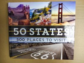 50 States 500 Places to Visit  50个州 500个地方 全国各地最好的景点和景点游览 博物馆、纪念碑、国家公园、海滩、战场、建筑