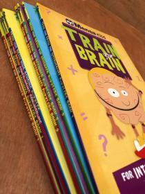 新品 英文 Mensa Train Your Brain 门萨挑战你的大脑系列8册 STEM数学奥数 头脑风暴 记忆思维逻辑训练装