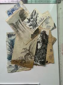 80-90年代钢笔手绘画稿多张