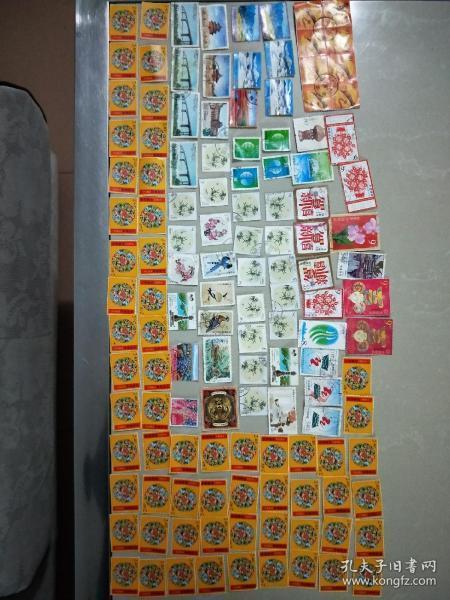 邮票,如图所示,129张!