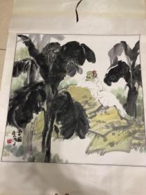 中国美术家协会理事、北京美术家协会常务副主席兼秘书长贺成才斗方