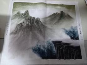 手绘布面画:风景画
