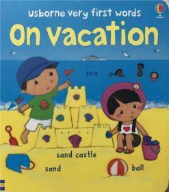 纸板书 usborne very first words on vacation 我们在度假时的第一句话