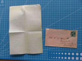 1894年1月1日美国实寄封贴古典邮票1枚、含信件(27)