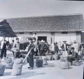1965枞阳县其林镇交公粮摄影底片两种合