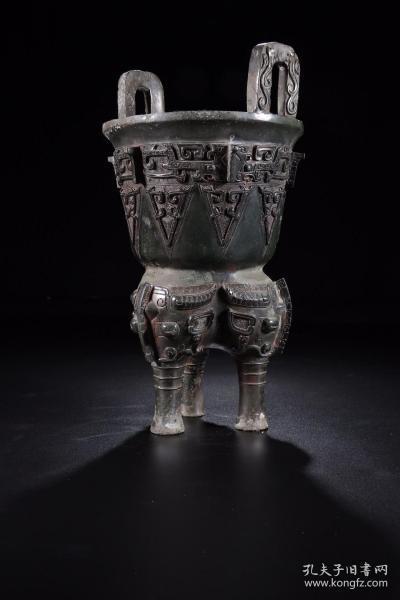 旧藏 商周饕餮纹三足双耳鼎