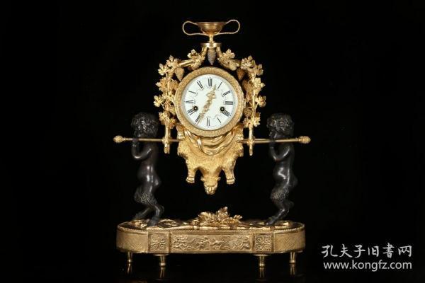 欧洲回流 、老铜鎏金座钟