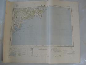1918年出版《青岛》地图   58:46cm   1000000:1   大日本帝国陆地测量部编
