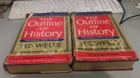 THE OUTLINE OF HISTORY 世界史纲 精装毛边本两卷全护封破内9品