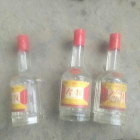 90年代商河今朝原酒三瓶(原包装1市斤)酒度38%
