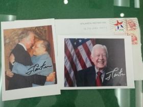 美国第39任总统吉米卡特亲笔签名 真品