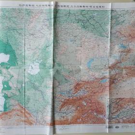 中亚五国地图。