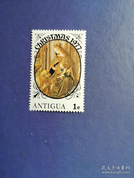 外国邮票 安提瓜岛邮票 1977年圣诞节 圣母子(无邮戳新票)