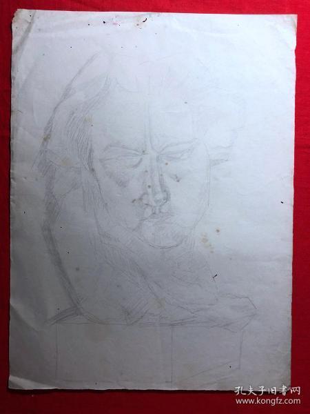 书画原作2888,巴蜀画派·名家【江溶】70年代素描画,肖像速写