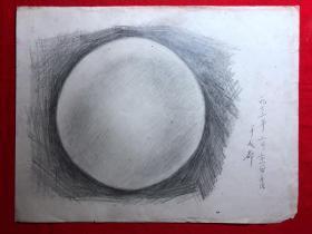 书画原作2890,巴蜀画派·名家【江溶】70年代素描画,静物,有签名