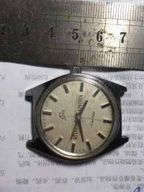 苏州牌手表摆轮花盘老机械表腕表不走时全钢防震不退换喔
