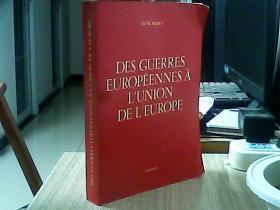 DES GUERRES EUROPEENNES A LUNION DE LEUROPE