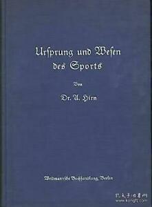 【精装哥特体德文原版】《体育运动的起源》1936年柏林奥运会当年出版 Ursprung und Wesen des Sports