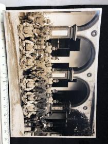 民国抗战时期原版老照片:侵华日军苏州联队本部将校军官合影