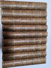 1894年皮脊精装版  CASSELL'S ILLUSTRATED HISTORY OF ENGLAND 九本全 海量插图   每本都有签名  27*20cm