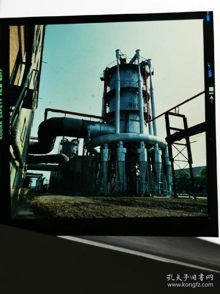 1983前后,彩色反转底片一张:工厂区