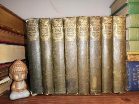 1834年 The Works of Robert Burns With His Life   8本全  每本前言处有2副插图 18 x 11.5 cm