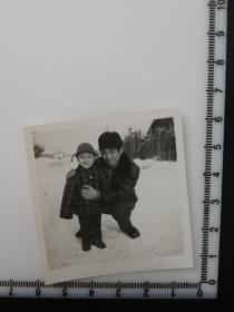 孩子老照片 雪地里