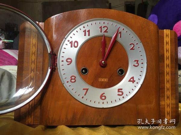 老机械钟老三五牌台钟555牌座钟正常走时正常报时敲钟喔品相好不退换呢
