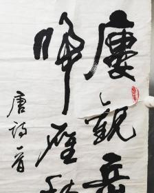 安徽著名书法家庄传林作品保真