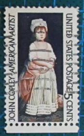 美国邮票-----画家约翰科普利作品(信销票)