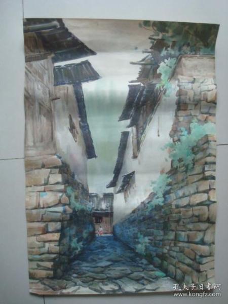手绘水彩画20.,约54*78厘米,时间不详..