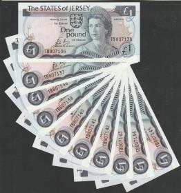泽西岛1镑(1976-88年版)