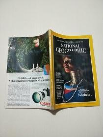 NATIONAL GEOGRAPHIC(FEBRUAPY1986)16开,有地图