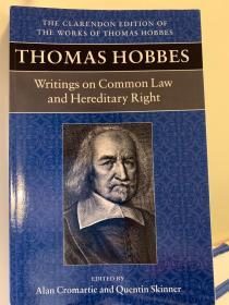 Thomas Hobbes. Writings on Common Law and Hereditary Right