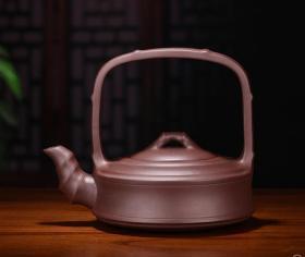 【正品保证】宜兴紫砂壶名家实力派艺人手工功夫茶壶竹节提梁壶.