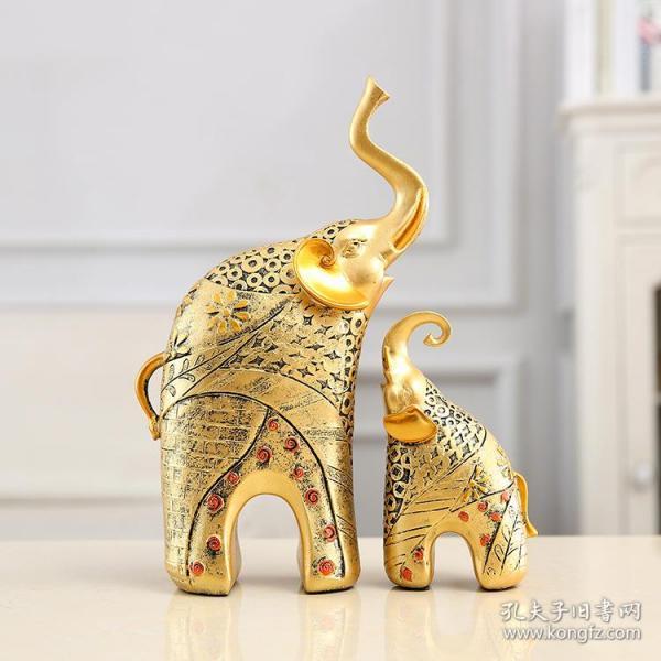 母子象摆件吉象如意