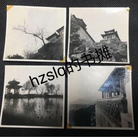 【系列照片】民国或早期北京颐和园专业摄影小品照片4张合售,格调清雅、颇具意味