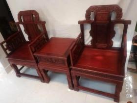 印度小叶紫檀福禄寿椅三件套