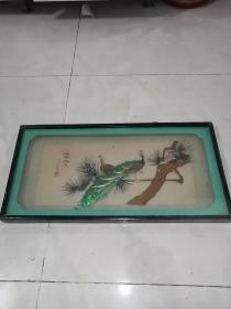 孔雀老挂件1985济南龙山