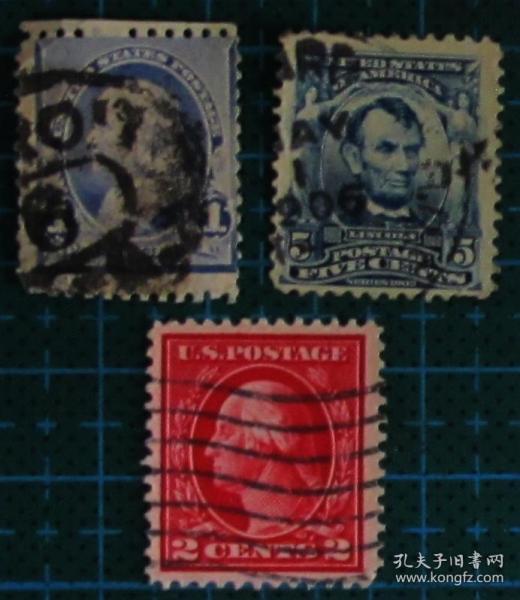 美国邮票------早期人物邮票(信销票)