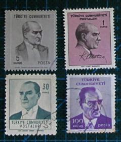 土耳其邮票----图尔基耶·库姆里耶蒂(信销票)